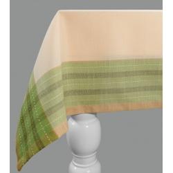 Obrus Kama kremowy / zielony